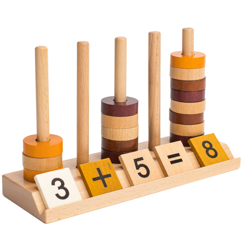 Wooden material board counting toy