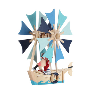Wooden windmill Construction puzzle toys
