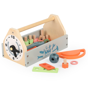 Diy Educational Wooden Box Children Handmade Self Assembled Tool Set Toys