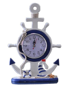 Fashion Nautical Wooden Anchor Clock