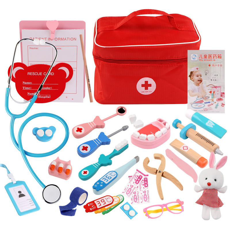 China Toy Children's Simulation Medicine Box Doctor Toy Wooden Toys