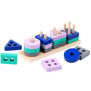 Wooden Stacking Toys & Shape Sorting Board Toys