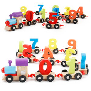 Wooden Number Train Toys