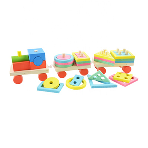 Wooden Blocks Train Toy