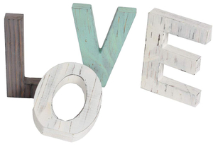 Wooden Letters Rustic Love Signs