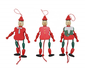 Wooden Color Soldier String Puppet