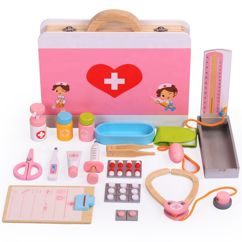 Wooden Pretend Role-Playing Hospital toys