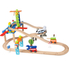 children wooden model car track toy