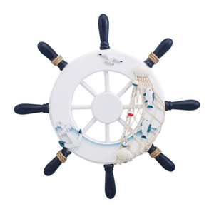 Nautical Wooden Ship wall hanging Wheel