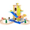 Cartoon Wooden Garage Parking Toys
