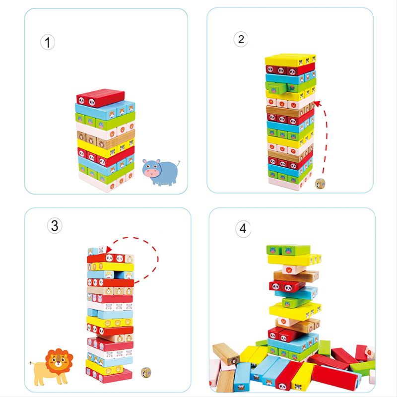 Intellectual Animal Stack Height Toys