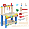 Multifunction Diy Kids Pretend Play Educational Tool Platform Wooden Workbench Toy