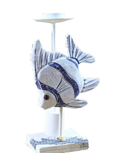 Fish Wooden Candle Holder, Craft Candle Holder