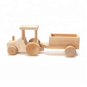 Custom Solid Wood Tractor Toy