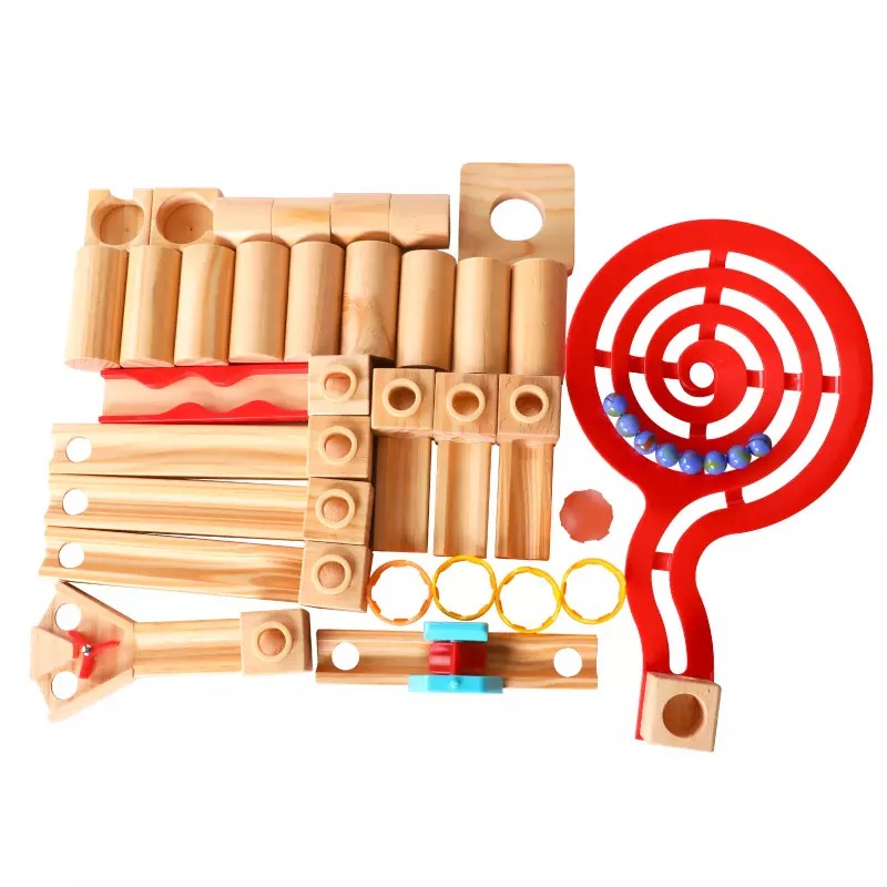 Wooden toys Educational Roller Coaster