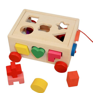 wooden shape sorters car