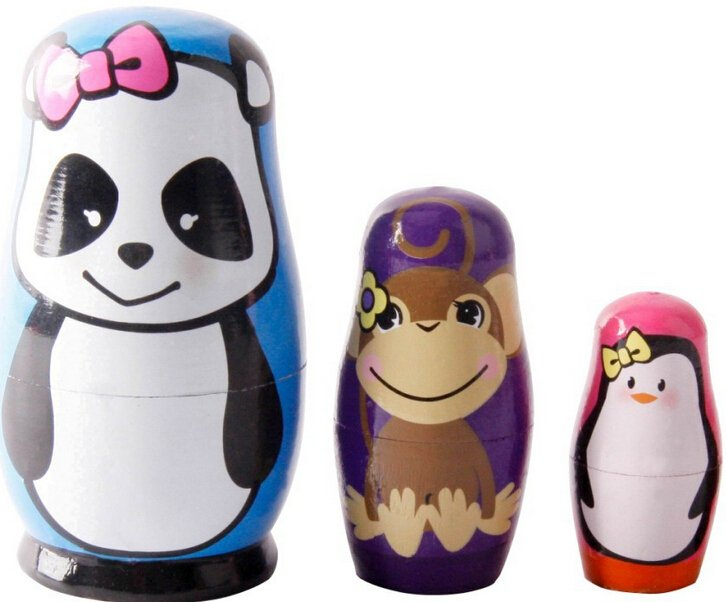 Wooden Russian Painted Nesting Matryoshka Doll