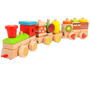 Colorful Wooden Stacking Train Toys