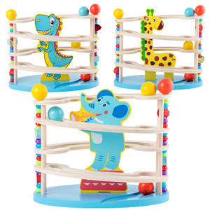 Children wooden educational Marble Run toy