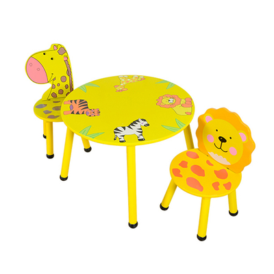 Wooden Kids cartoon study Table And Chair Set