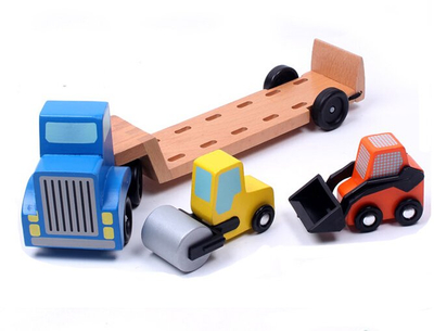 Kids Stacking Construction Vehicles