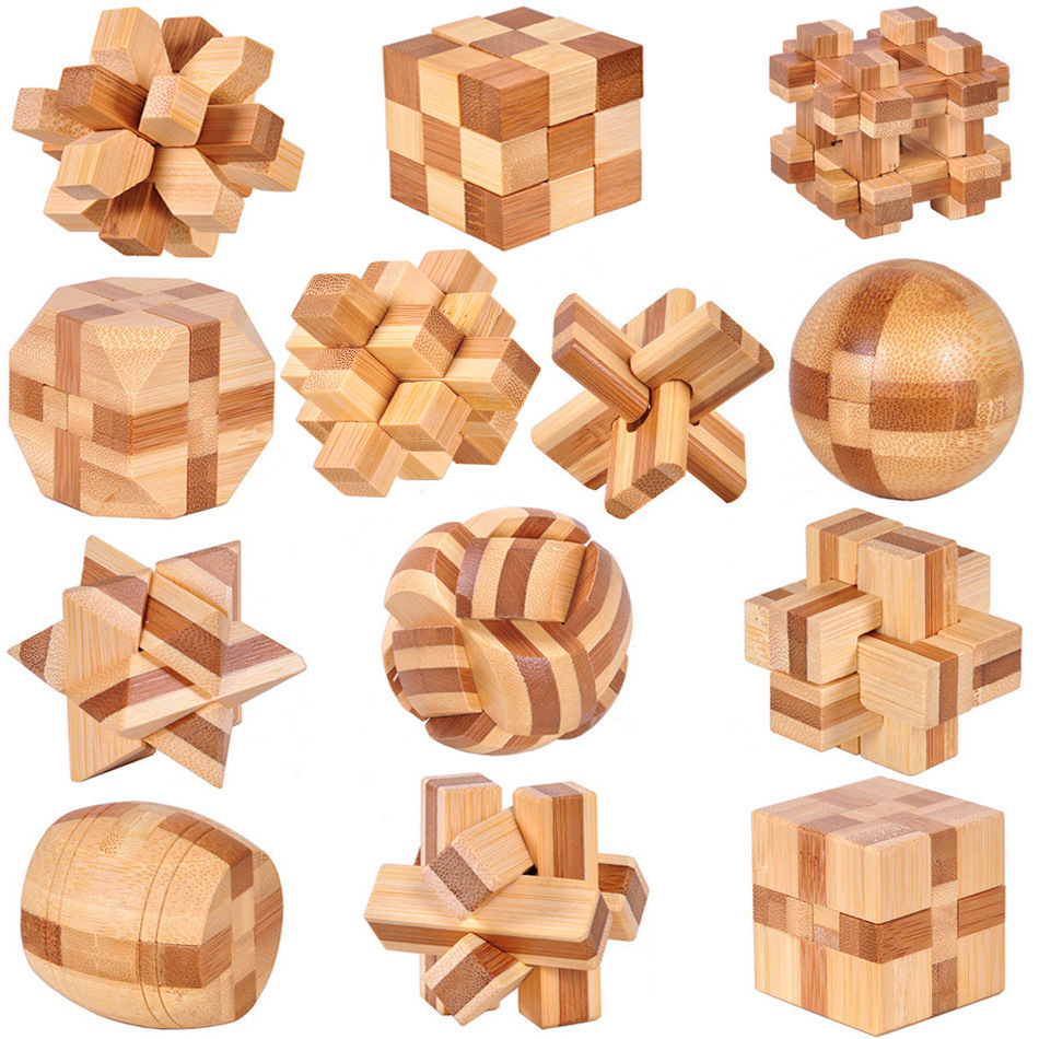 Bamboo Ludo Board Chesses Game Toys
