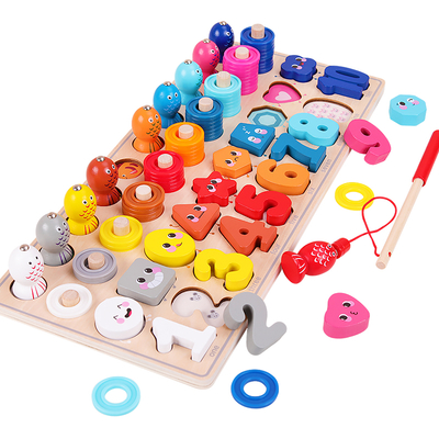wooden early educational plate puzzle toys