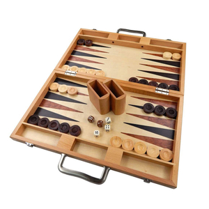 Wooden Backgammon Board Strategy Games Set