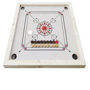 wooden interactive carom board game toys