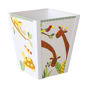 Kids Cute Trash Wooden Rubbish Storage