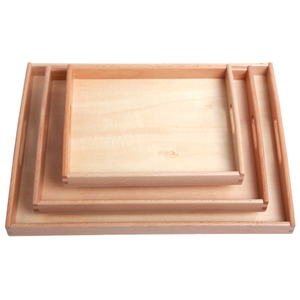Montessori Wooden teaching aid tray