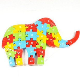 Kids Teaching 3d animal wooden puzzles