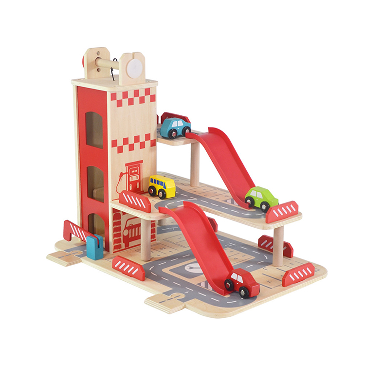 Wooden Car Parking Garage Toy