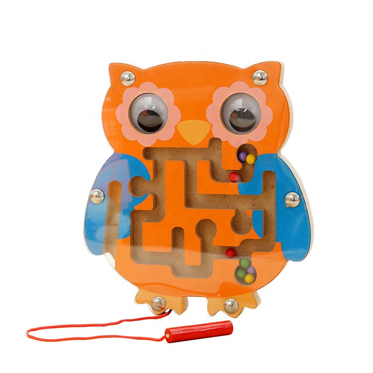 Animal Magnetic Wooden Maze Puzzle toy