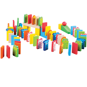 Wooden Dominos Blocks Set