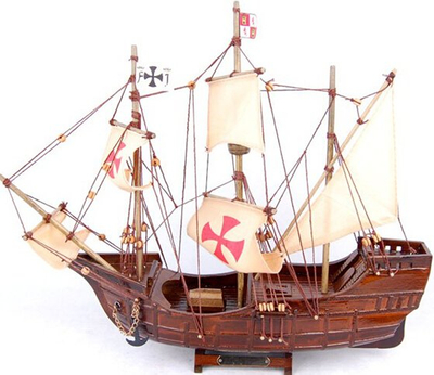 Antique Wooden Ship Model, Wooden Sail Boat Model, Merchant Ship