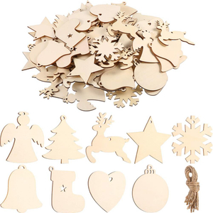 16 Styles Wood Christmas Ornaments