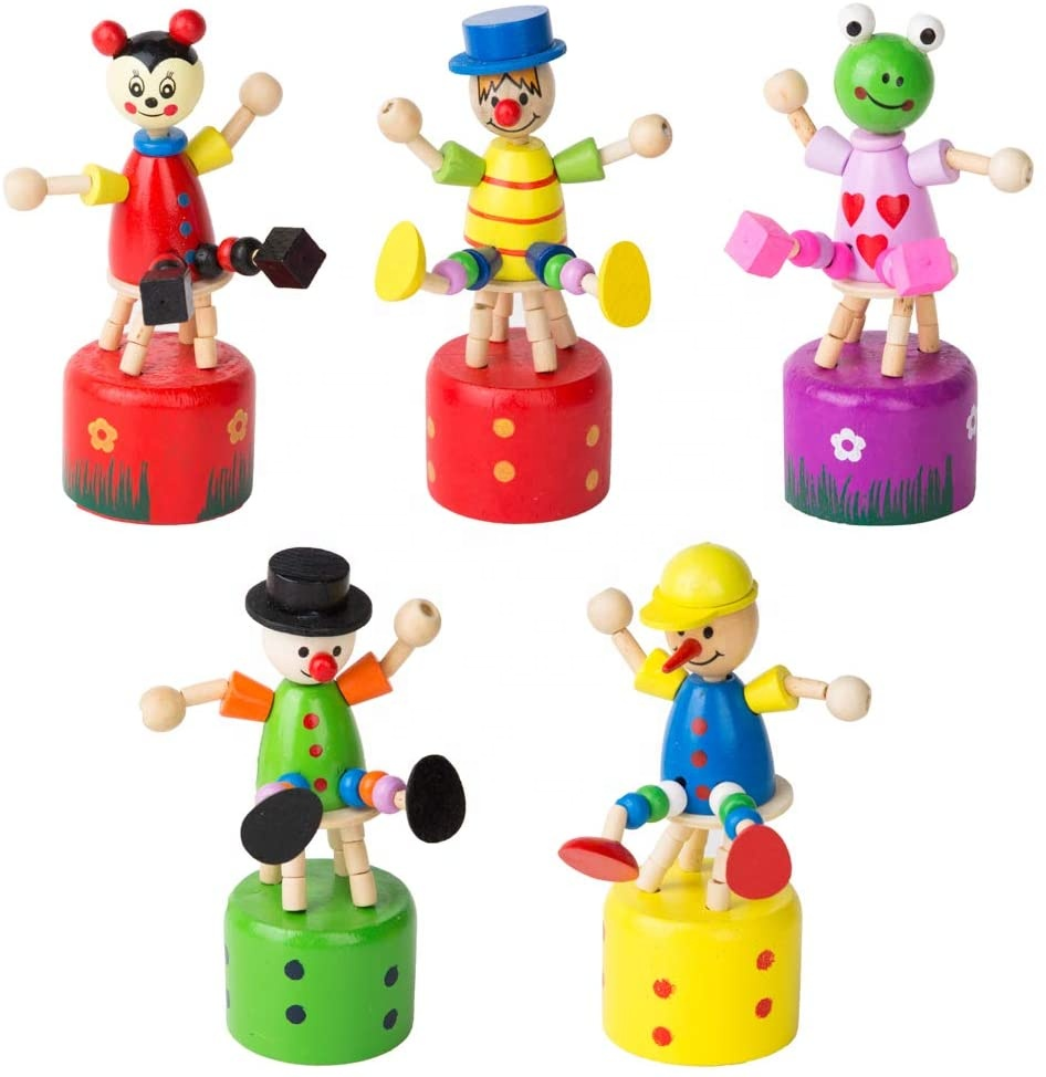Wooden Hand Puppet Push UpToys