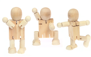 Wooden Kids Robot Toy