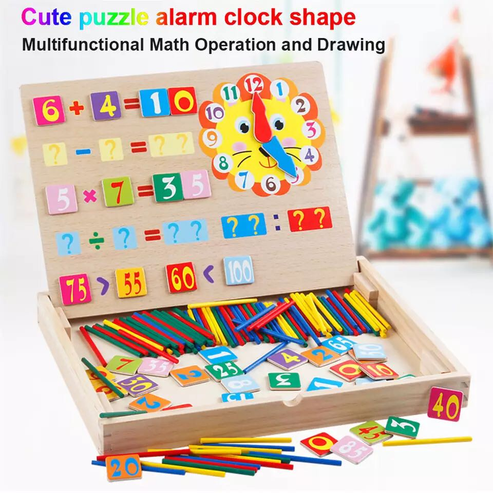 Wooden Magnetic Block Puzzle Math Toy