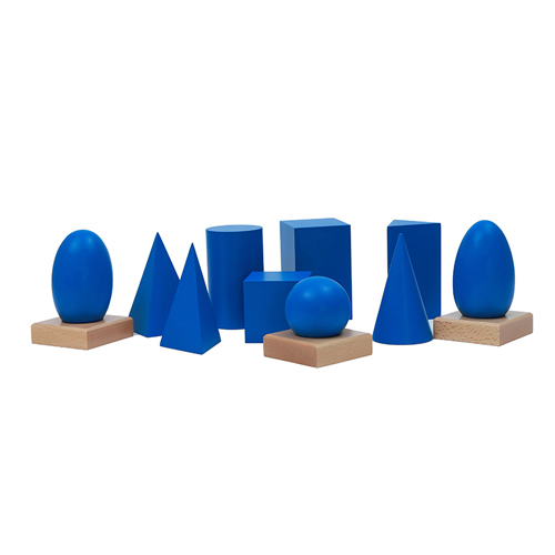 Wooden Montessori materials Geometric Solids Toys